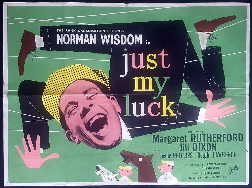 JUST MY LUCK British Quad Movie poster Norman Wisdom