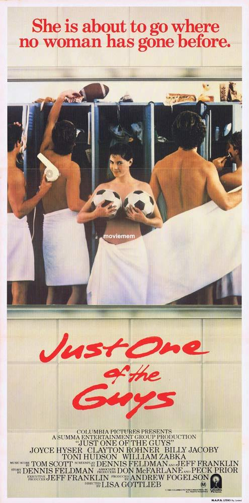JUST ONE OF THE GUYS Original Daybill Movie Poster Joyce Hyser Clayton Rohner