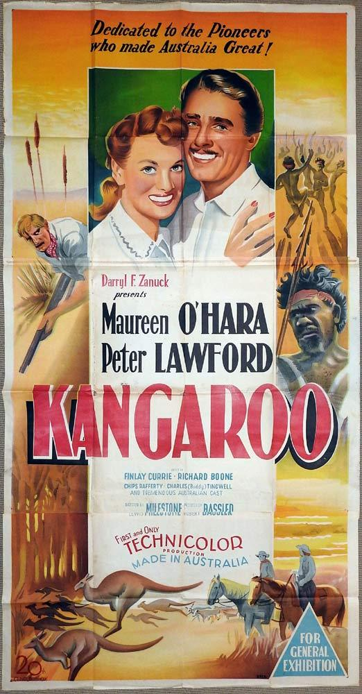 KANGAROO Original 3 Sheet Movie Poster Peter Lawford Maureen O'Hara