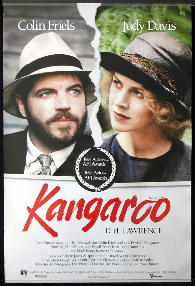 KANGAROO Original One sheet Movie poster Colin Friels Judy Davis John Walton