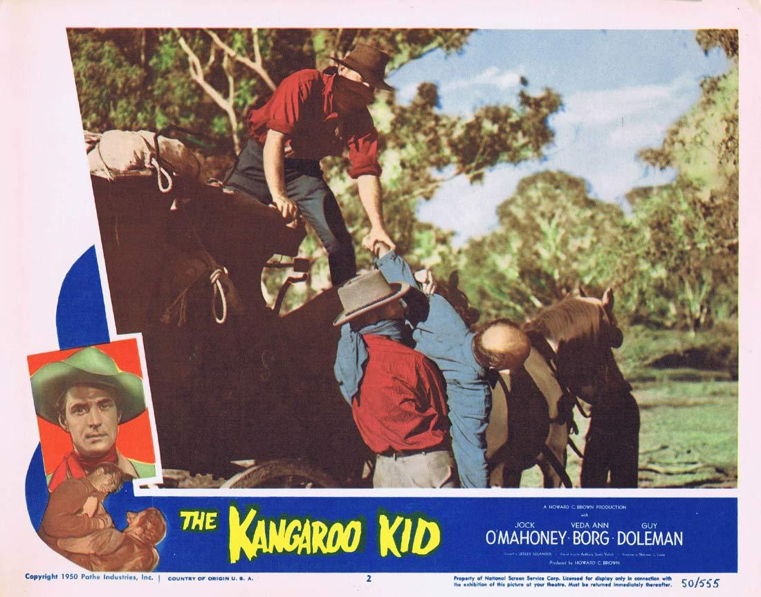 THE KANGAROO KID Original Lobby card 2 Jock Mahoney