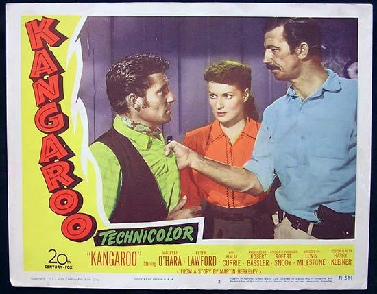 KANGAROO '52 Peter Lawford CHIPS RAFFERTY US Lobby Card 2