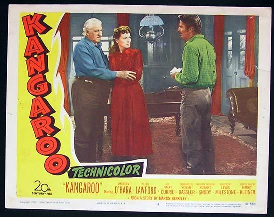 KANGAROO '52 Peter Lawford PETER LAWFORD US Lobby Card 6