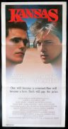 KANSAS Original Daybill Movie poster Matt Dillon Andrew McCarthy