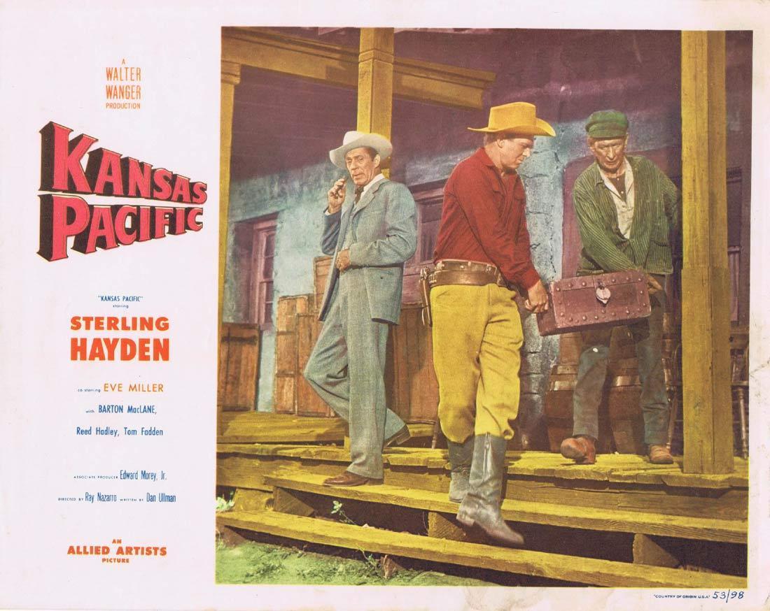 KANSAS PACIFIC Lobby Card 3 Sterling Hayden Eve Miller