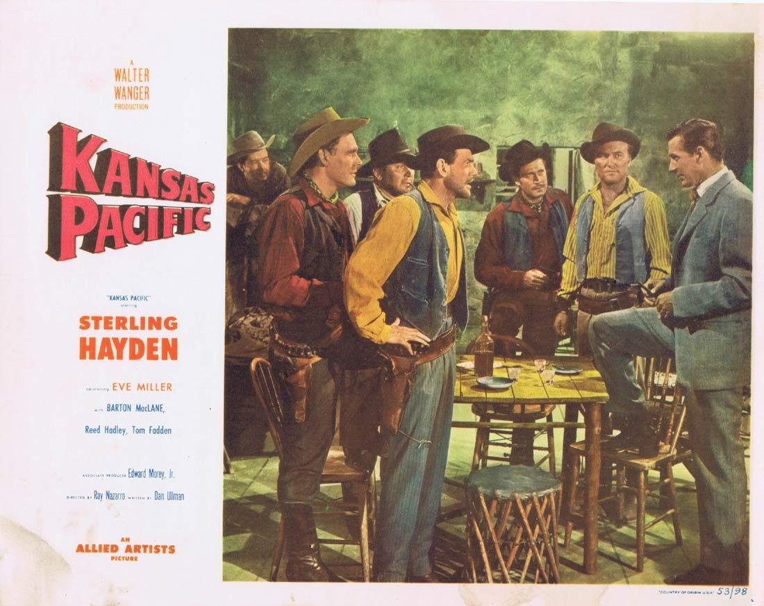 KANSAS PACIFIC Lobby Card 5 Sterling Hayden Eve Miller