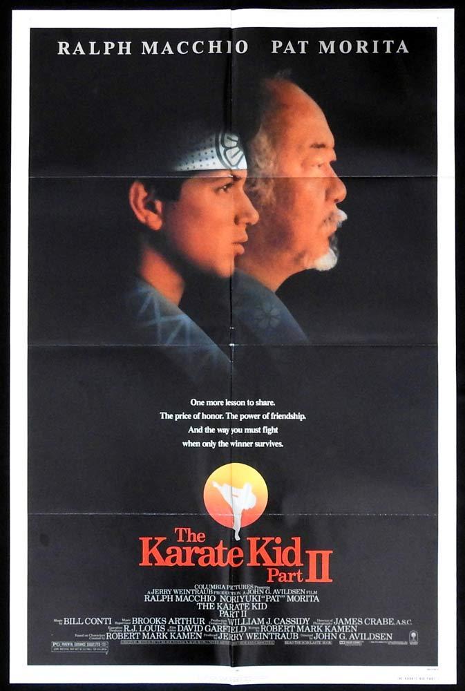 THE KARATE KID PART 2 Original US One sheet Movie poster Ralph Macchio Pat Morita