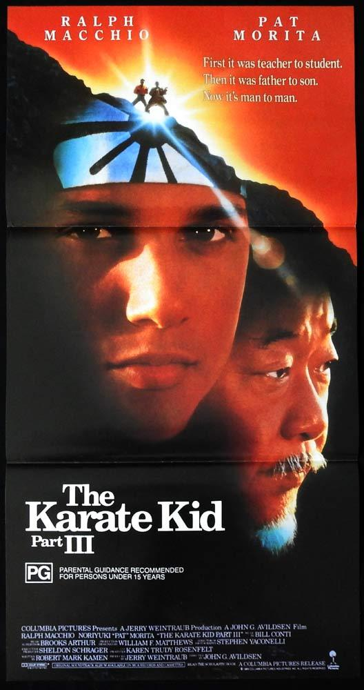 KARATE KID PART III Original Daybill Movie poster Ralph Macchio Pat Morita 3