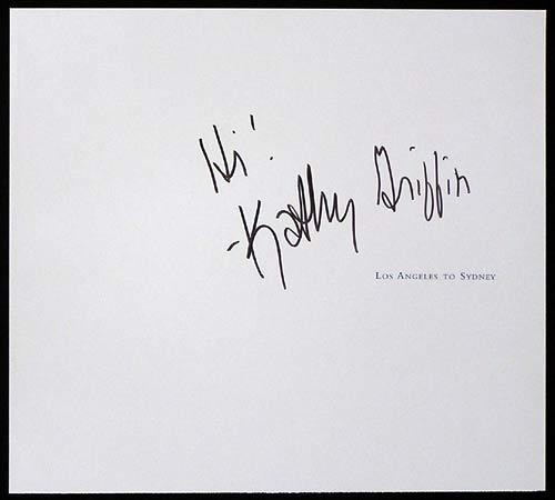 KATHY GRIFFEN-Autograph on Qantas Flight