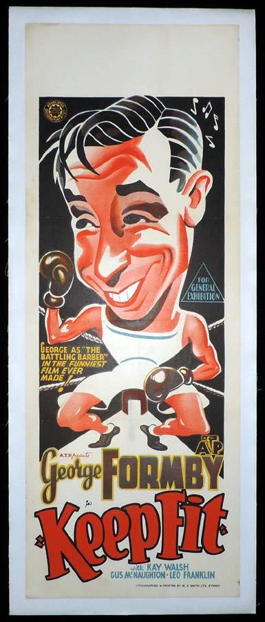 KEEP FIT Long Daybill Movie poster 1937 George Formby