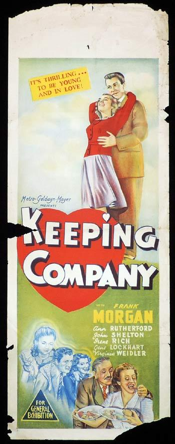 KEEPING COMPANY Long Daybill Movie poster 1940 Frank Morgan