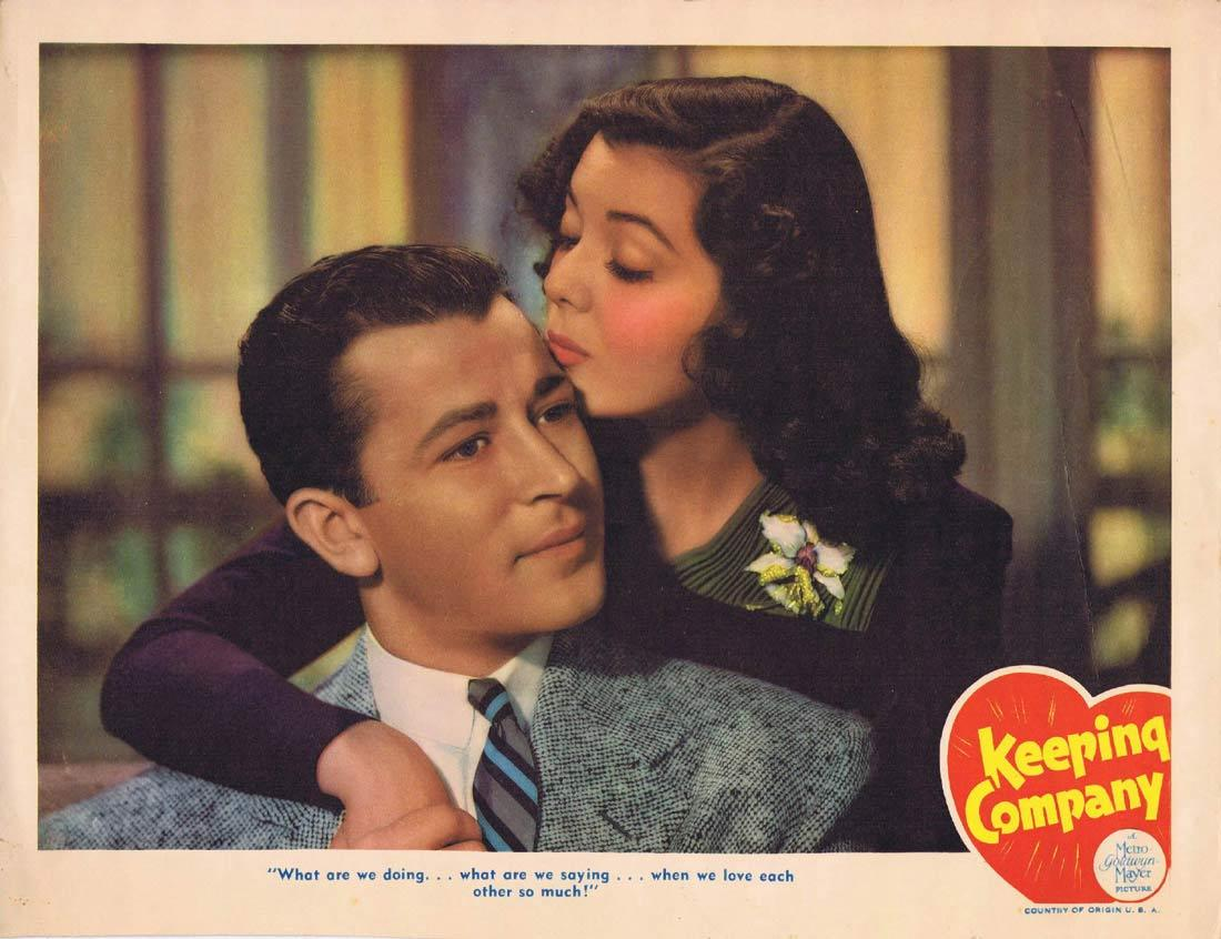 KEEPING COMPANY Lobby card 1940 Frank Morgan Ann Rutherford