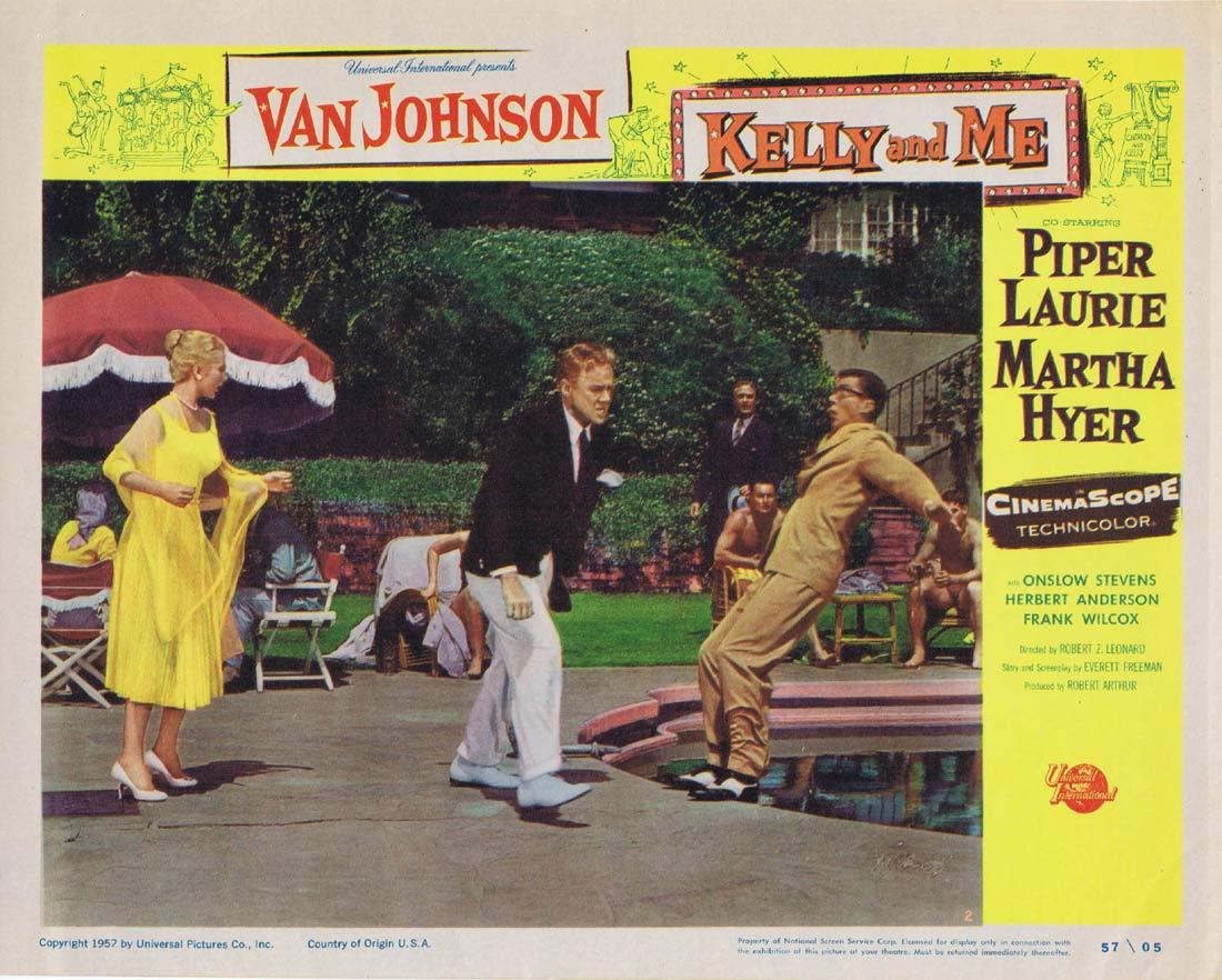 KELLY AND ME Original Lobby Card Van Johnson Piper Laurie Martha Hyer
