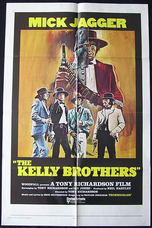NED KELLY aka THE KELLY BROTHERS 1970 Mick Jagger ORIGINAL US 1 sheet poster