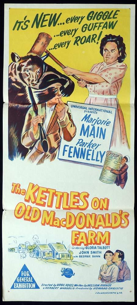THE KETTLES ON OLD MACDONALDS FARM Original Daybill Movie poster