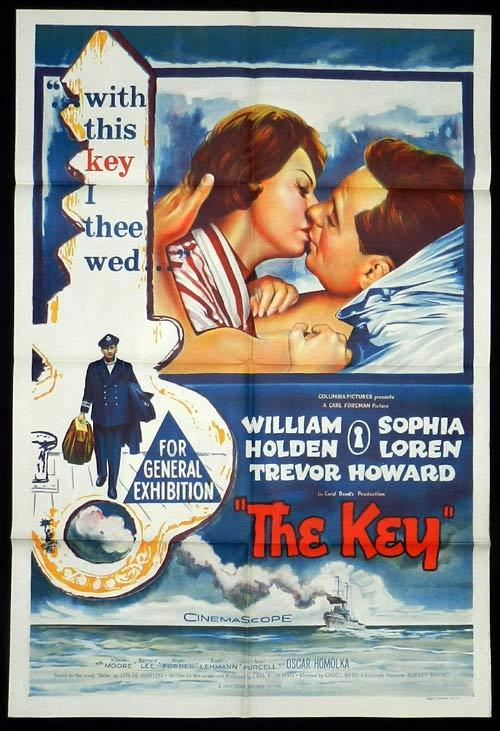 THE KEY One Sheet Movie poster SOPHIA LOREN Trevor Howard