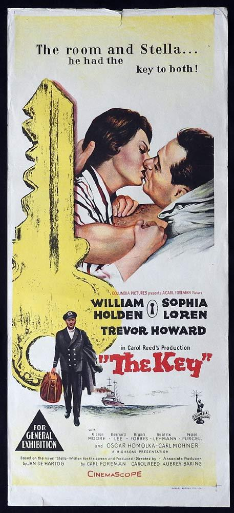 THE KEY Original Daybill Movie Poster Sophia Loren William Holden