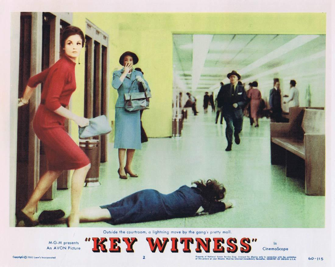 KEY WITNESS Lobby Card 2 Jeffrey Hunter Patricia Crowley Dennis Hopper
