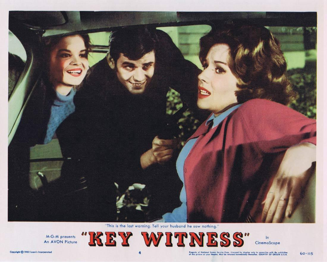 KEY WITNESS Lobby Card 4 Jeffrey Hunter Patricia Crowley Dennis Hopper