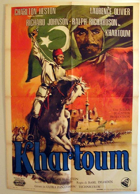 KHARTOUM Original Italian Movie Poster Charlton Heston Laurence Olivier