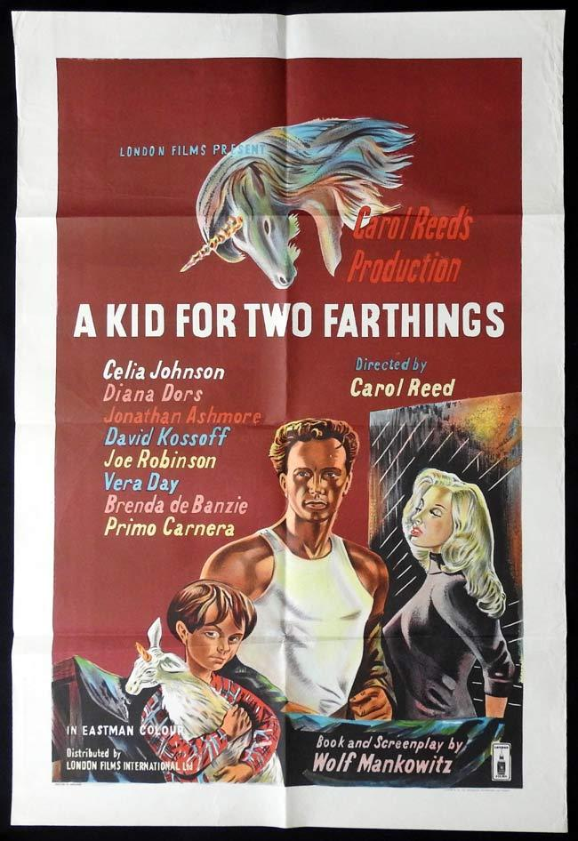 A Kid for Two Farthings, Carol Reed, Celia Johnson Diana Dors David Kossoff Joe Robinson