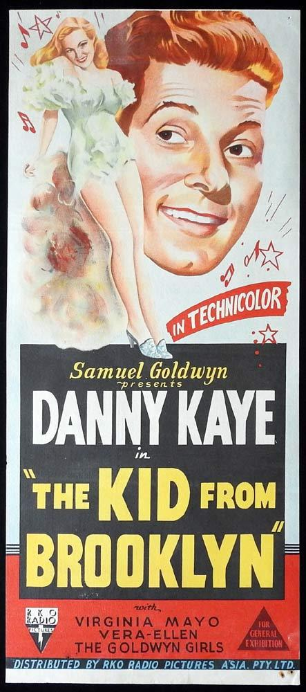 THE KID FROM BROOKLYN Original Daybill Movie poster Danny Kaye RKO