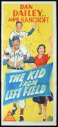 THE KID FROM LEFT FIELD Original Daybill Movie Poster Dan Dailey Anne Bancroft Baseball