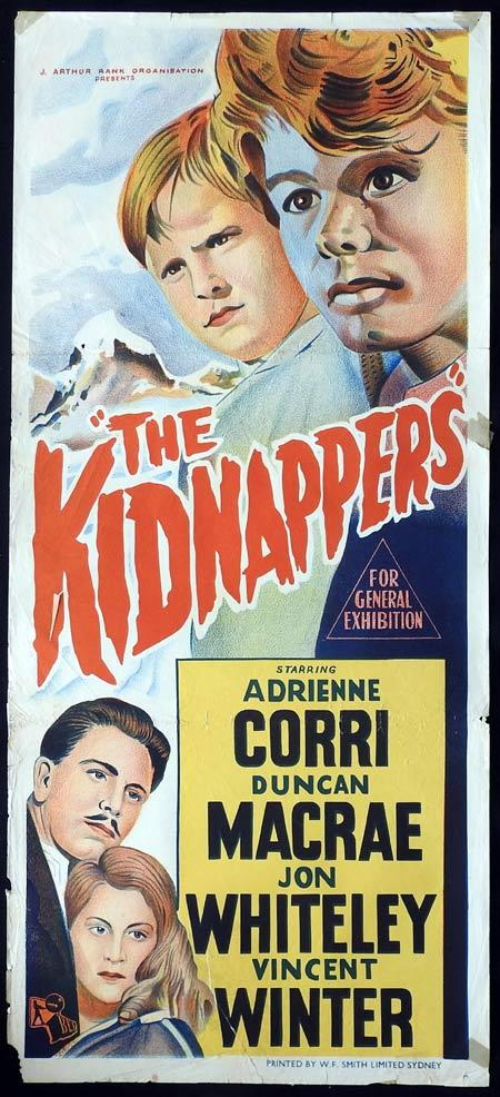 THE KIDNAPPERS Original daybill Movie Poster Duncan Macrae Jon Whiteley Vincent Winter