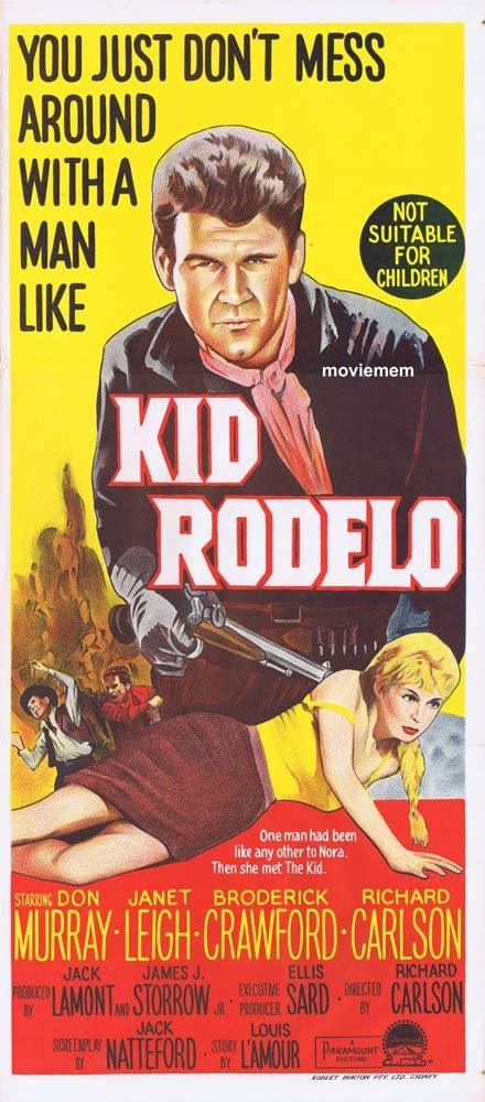 KID RODELO Original Daybill Movie Poster Don Murray Janet Leigh
