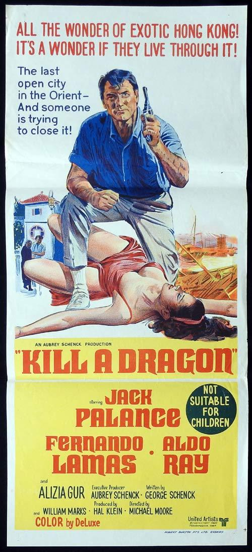 KILL A DRAGON Original Daybill Movie Poster Jack Palance Fernando Lamas  Hong Kong