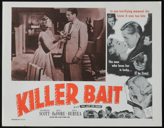 TOO LATE FOR TEARS aka KILLER BAIT 1950s Lobby Card 5 Lizabeth Scott FILM NOIR