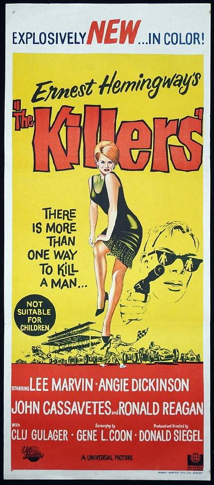 THE KILLERS Daybill Movie Poster Lee Marvin Don Siegel