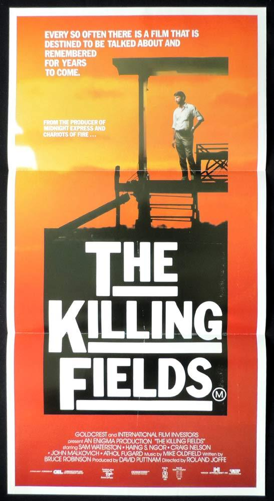 THE KILLING FIELDS Original Daybill Movie Poster Sam Waterston David Puttnam