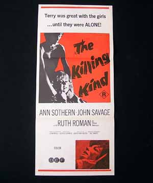 THE KILLING KIND-Sothern-Roman-Savage-daybill poster
