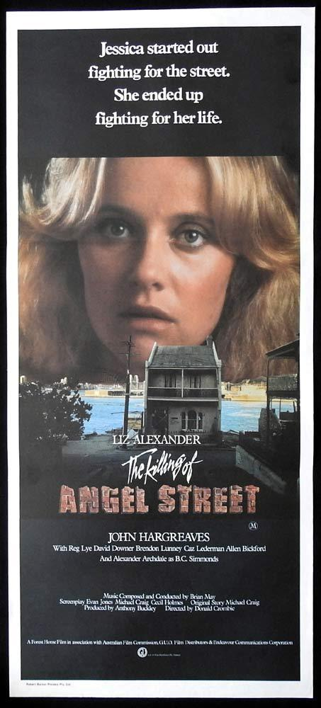 THE KILLING OF ANGEL STREET Original Daybill Movie Poster Elizabeth Alexander John Hargreaves