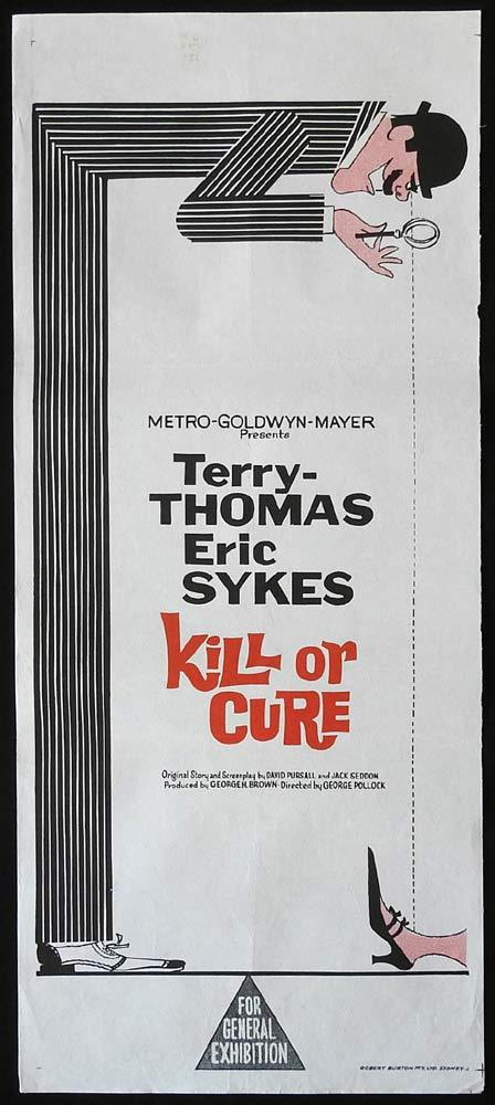 KILL OR CURE Original Daybill Movie Poster Terry-Thomas Eric Sykes