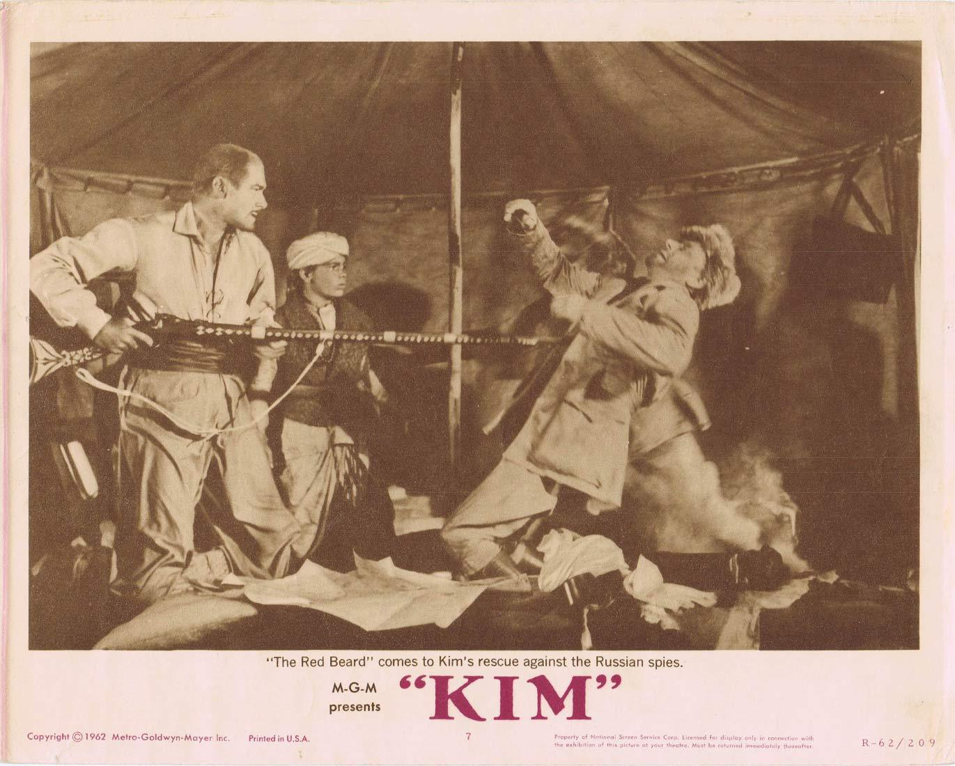 KIM Original 1962r Lobby Card 7 Errol Flynn