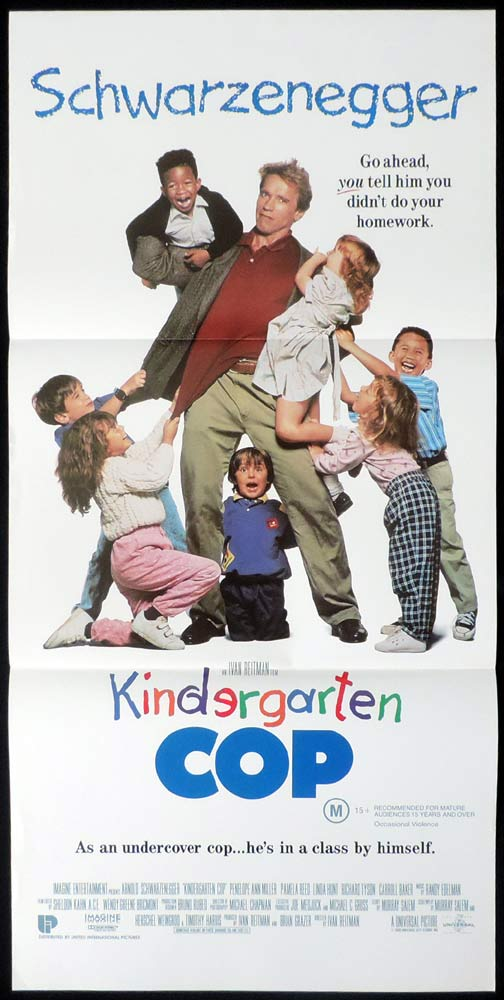 KINDERGARTEN COP Original Daybill Movie Poster Arnold Schwarzenegger