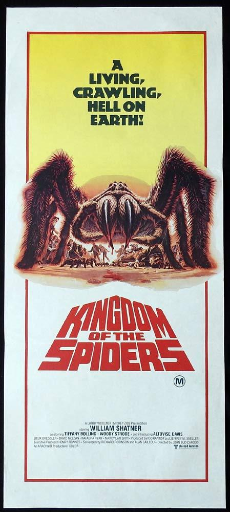 KINGDOM OF THE SPIDERS Original daybill Movie poster William Shatner Sci FI