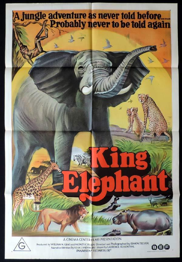 KING ELEPHANT One Sheet Movie Poster The African Elephant documentary