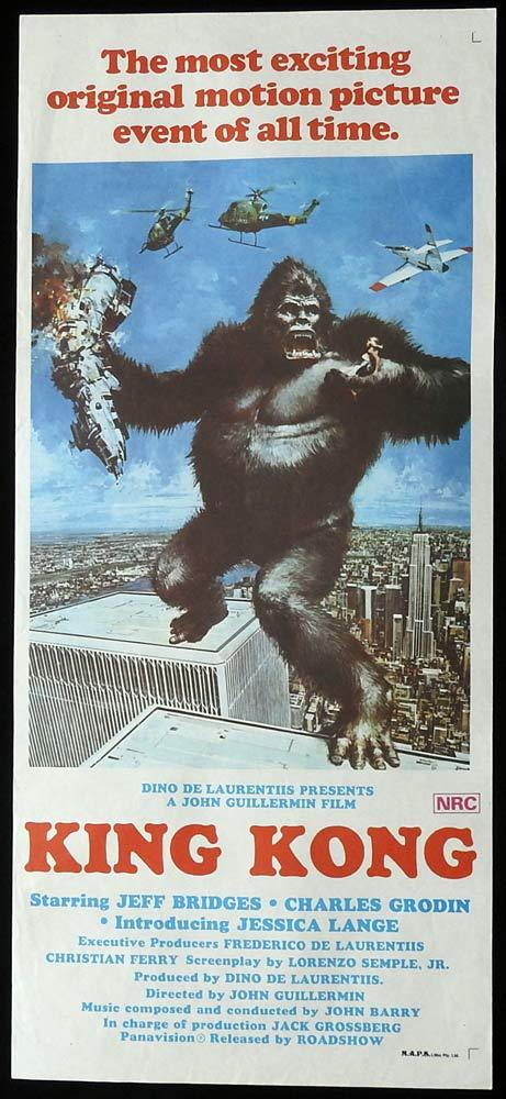 KING KONG Original Daybill Movie Poster Jeff Bridges Charles Grodin
