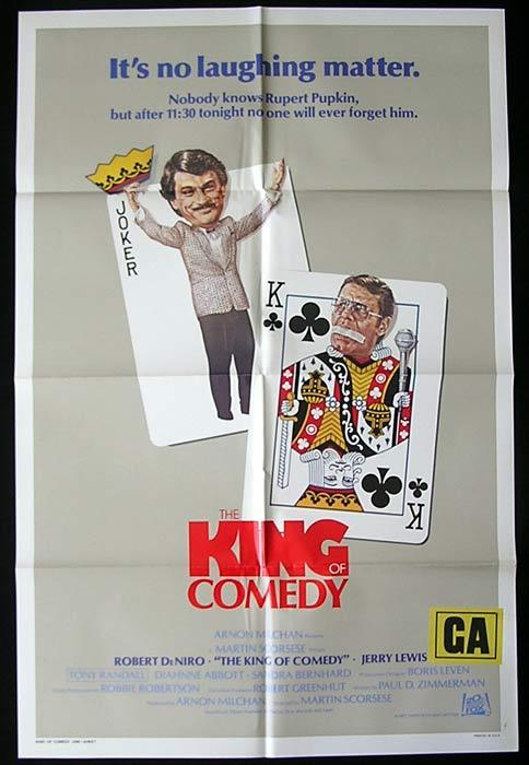 THE KING OF COMEDY Original One sheet Movie poster Robert De Niro Jerry Lewis