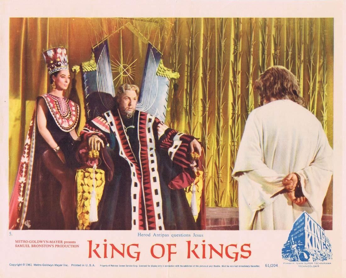 KING OF KINGS Original Lobby Card 5 FRANK THRING as King Herod
