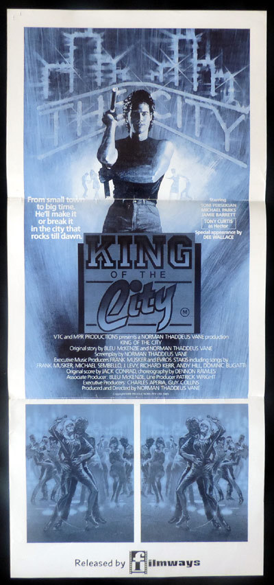 KING OF THE CITY aka CLUB LIFE Original Daybill Movie poster Tom Parsekian Tony Curtis