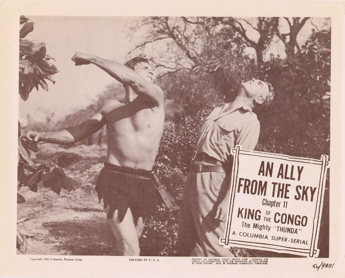 KING OF THE CONGO Original Lobby Card 2 Chapter 11 Columbia Serial Buster Crabbe