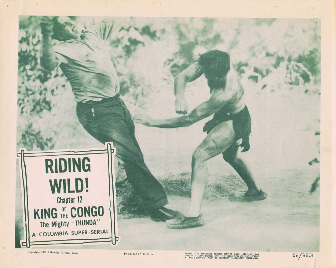 KING OF THE CONGO Original Lobby Card 2 Chapter 12 Columbia Serial Buster Crabbe