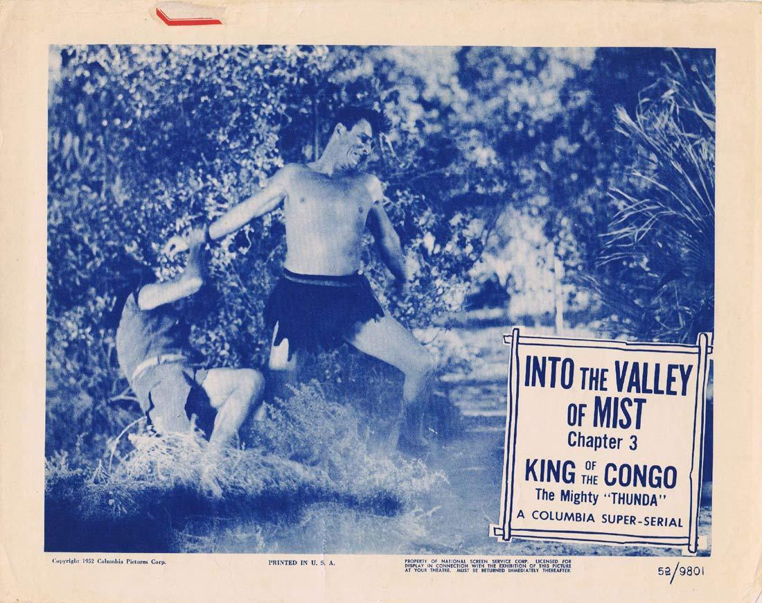 KING OF THE CONGO Original Lobby Card Chapter 3 Columbia Serial Buster Crabbe