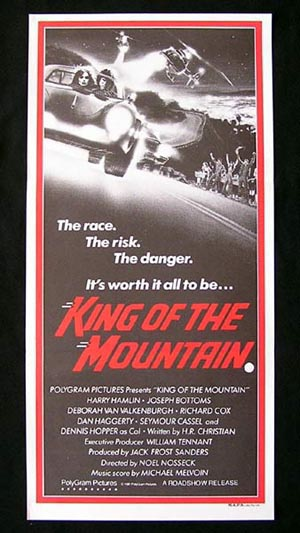 KING OF THE MOUNTAIN-Harry Hamlin-Joseph Bottoms poster