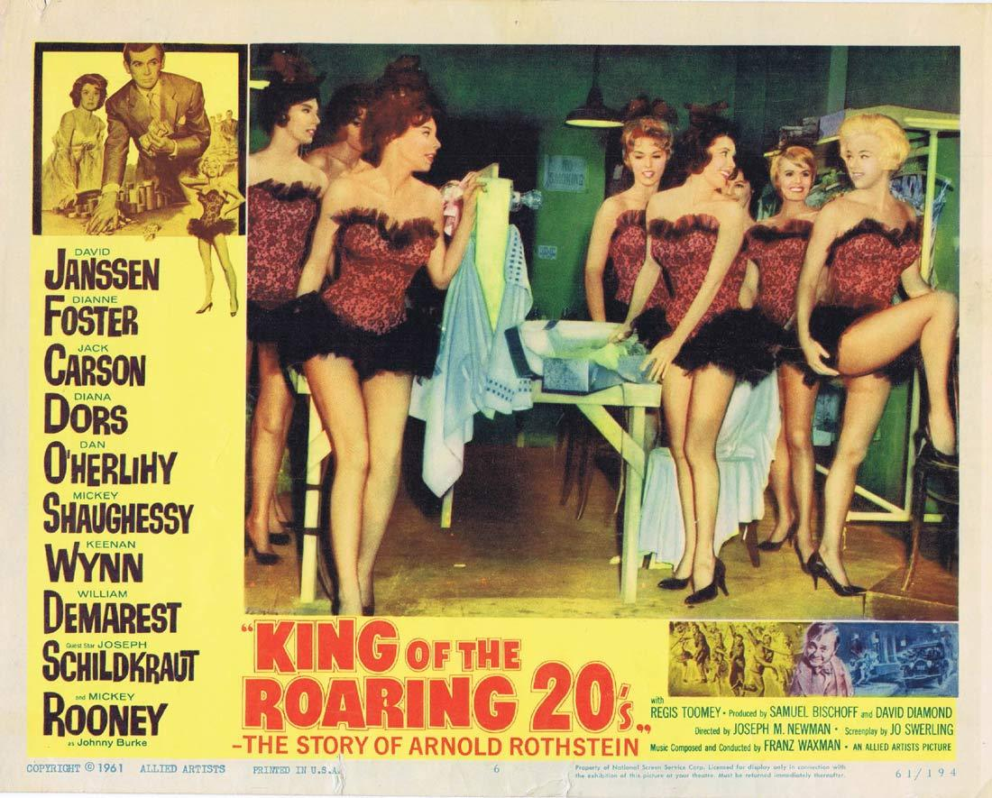KING OF THE ROARING 20s Original Lobby Card 6 David Janssen Dianne Foster
