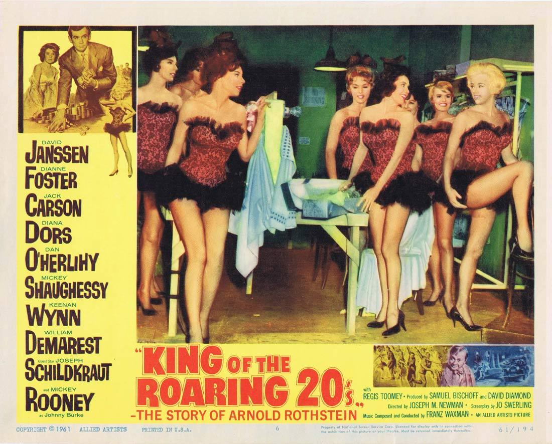 KING OF THE ROARING 20s Lobby Card 6 David Janssen Dianne Foster Diana Dors